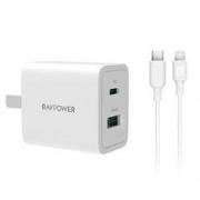 Ravpower 睿能宝 MFi PD数据线1米 + 18W双口充电器(1C1A)69元包邮(需20元券)