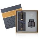 PARKER 派克 新款卓尔礼盒系列 磨砂黑金夹钢笔+墨水礼盒1617元