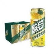 醒目Smart 菠萝啤 酒味汽水 330ml*12听 整箱装 可口可乐公司出品 菠萝啤 *3件