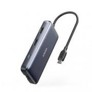 Anker 八合一 Type-C扩展坞(HDMI*2、USB 3.0*2、PD 100W、千兆网口、读卡器)