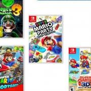 Nintendo 任天堂 NS游戏卡带《路易鬼屋3》《马力欧卡丁车8》《马力欧3D收藏辑》《马力欧派对》