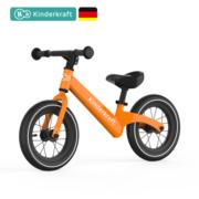 KinderKraft 德国平衡车 儿童滑步车 12寸 橙色充气
