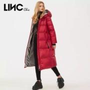 LINC chic 金羽杰 羽绒服 连帽 长款 面包服 外套