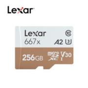 Lexar 雷克沙 667x microSDXC A2 UHS-I U3 TF存储卡 256G