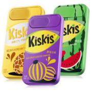 酷滋 Kiskis无糖薄荷糖网红休闲零食(清爽海盐味、葡萄味、西瓜薄荷味组合装)21g*3盒 *3件