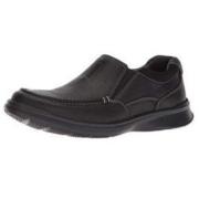 Clarks 其乐 Cotrell Free系列套脚平底男士休闲鞋乐福鞋 Black Oily Leather US 7