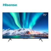 Hisense 海信 75E3F 75英寸 4K液晶电视4299元