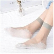 Langsha 浪莎 女士薄款短筒丝袜 10双装29.9元