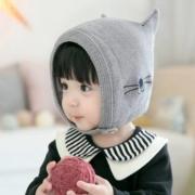 公主妈妈 秋冬季  婴幼儿 保暖帽 毛线帽6.9元包邮