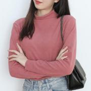 【阳离子】半高领纯色打底衫女19.8元