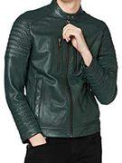HUGO Hugo Boss 雨果·博斯 Jordon 男士修身皮夹克 50424285 直邮含税到手¥1801.09