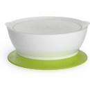 Calibowl 1-1/2 杯幼儿吸盘碗和盖子 绿色 12oz 375C