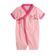 Augelute 婴幼儿短袖斜开绑带连身衣