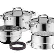 WMF 福腾宝 Compact Cuisine系列 798046380 不锈钢锅具4件套 到手¥1459.56
