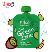 艾拉厨房Ella's kitchen  混合绿色果泥 婴儿辅食 90g*9