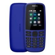 NOKIA诺基亚 105直板按键老人手机 移动联通2G蓝色