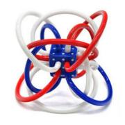manhattan toy 曼哈顿球 星条旗版 儿童牙胶摇铃玩具