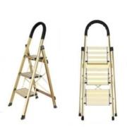 CHUANGBU 创步 铝合金家用三步折叠梯子