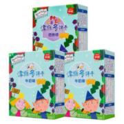 Eastwes 伊威 宝宝辅食钙铁锌牛奶味磨牙饼干 100g*3盒