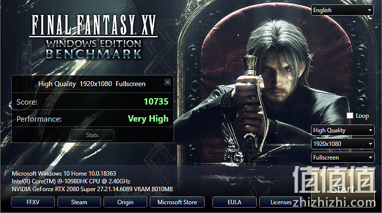 Acer 宏碁 掠夺者战斧700 游戏本Final Fantasy XV Benchmark测试结果