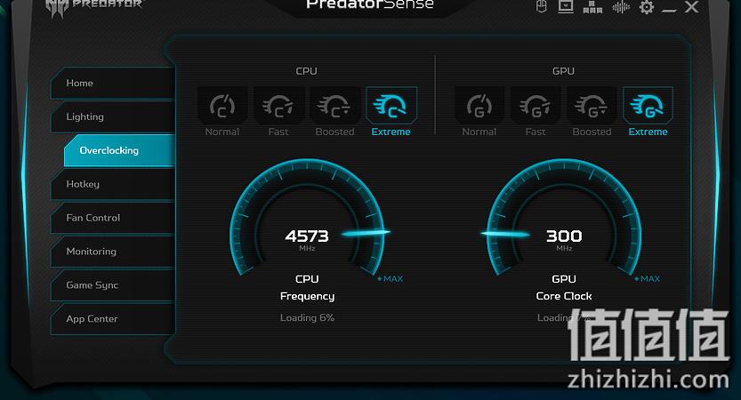 Acer 宏碁 掠夺者战斧700 游戏本PredatorSense软件设置超频