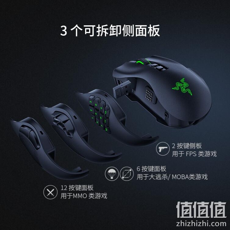 Razer 雷蛇 那伽梵蛇Pro 专业版 无线蓝牙 2.4G电竞游戏鼠标