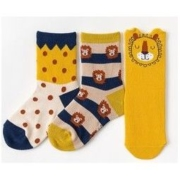 CARAMELLA 婴儿纯棉中筒袜子 3双装19.9元包邮(需用券)