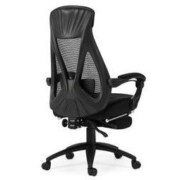 Hbada 黑白调 HDNY077BMJ 人体工学电脑椅 带脚托 黑色