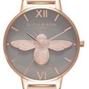 Olivia Burton 3D Bee 灰色表盘女士手表  到手约¥¥697.96