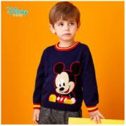 Disney 迪士尼 男童米奇针织套头上衣