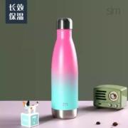 simple|modern  时尚户外保冷杯  可乐瓶保温水杯  500ml