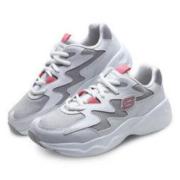 SKECHERS 斯凯奇 D'LITES系列 熊猫休闲鞋 时尚绑带 88888105-BKGD 白色/灰色 39.5