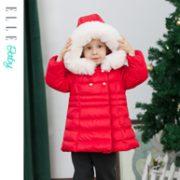 A类标准、90%白鸭绒:Elle baby 2020年冬季女童中长款羽绒服199元包邮