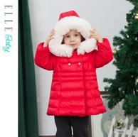 A类标准、90%白鸭绒:Elle baby 2020年冬季女童中长款羽绒服