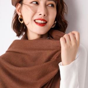 Mudulan 披肩 纯色 加厚围巾*2
