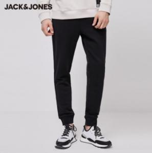 20日0点! JackJones 杰克琼斯 拼接设计小脚休闲裤