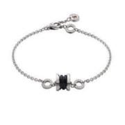 BVLGARI 宝格丽 慈善款系列 352651 女士银黑色手链