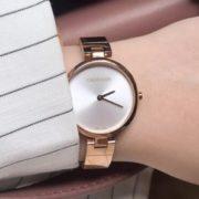 CALVIN KLEIN Authentic 女士不锈钢表带石英手表 玫瑰金 K8G23646