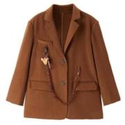 PEACEBIRD 太平鸟 AWAAA4357 女士西装双面呢大衣