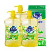 88VIP!超能 活力柠檬洗洁精 3斤*3瓶+1片洗碗布 *4件