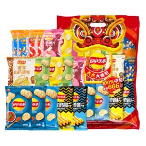 Lay's乐事 薯片零食大礼包 12g*8包7.9元包邮