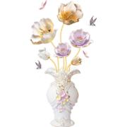 墙彩 3d立体墙贴画 花瓶郁金香款4.9元包邮(需用券)