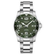 LONGINES 浪琴 康卡斯潜水系列 L3.781.4.56.6 41mm 男士机械手表 黑盘 银色精钢表带 圆形
