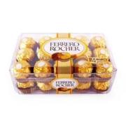 费列罗 榛果威化巧克力 30粒 375g + 金锣 火腿肠 玉米香甜王 30g*9支 *2件