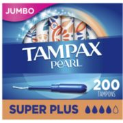 Tampax 丹碧丝 珍珠系列 塑胶导管棉条 超大吸收量版 50支*4盒   含税到手约311元