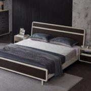 QuanU 全友 125303 现代极简双人床 1.5m+床头柜*1