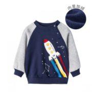 Bornbay 贝贝怡 儿童加绒保暖卫衣