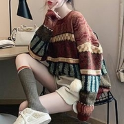 Tonlion 唐狮 62542FC0043366814 女士图案毛线衫