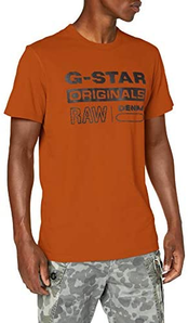 G-Star Raw Wavy Logo 男士纯棉短袖T恤D17838  到手¥96.16