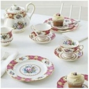 Royal Albert 英国皇家阿尔伯特 Lady Carlyle骨瓷系列餐具五件套 新春礼品